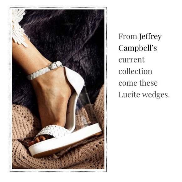 b4f33d065f Jeffrey Campbell Shoes   Jeffery Campbell Lucite Wedge   Poshmark